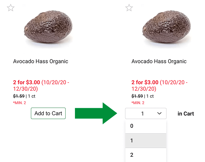 Add two to cart