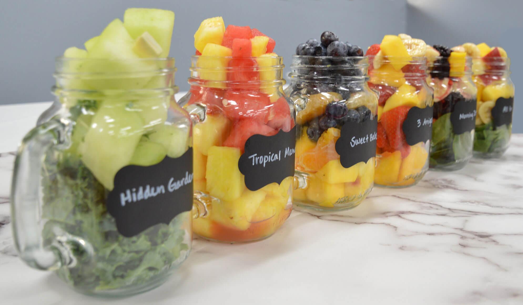 Produce Mash in jars